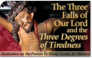 The Three Falls of Our Lord and the Three Degrees of Tiredness