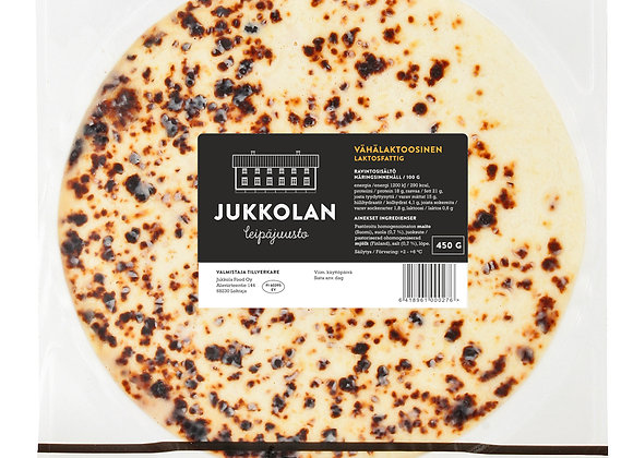 Jukkolan vähälaktoosinen leipäjuusto 450 g