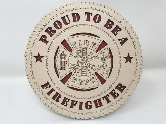 6 inch Desktop Tribute - Proud to be a Firefighter