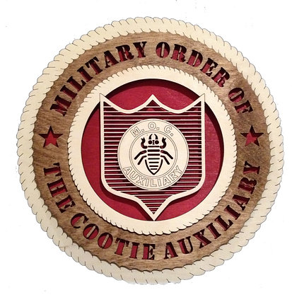 12 inch Wall Tribute - Military Order of the Cootie Auxiliary