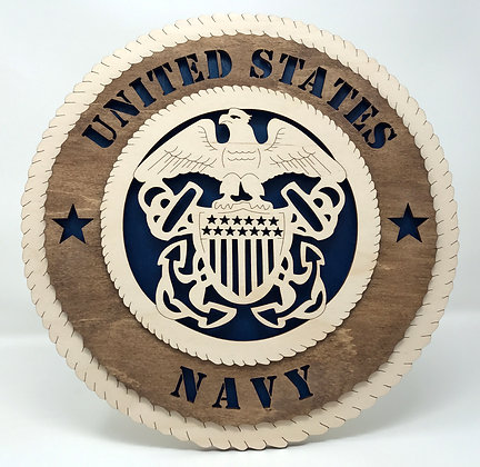 12 inch Wall Tribute - United States Navy
