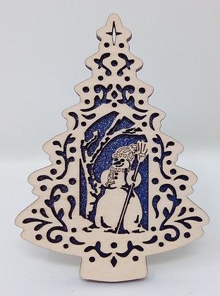 Filigree Snowman Ornament