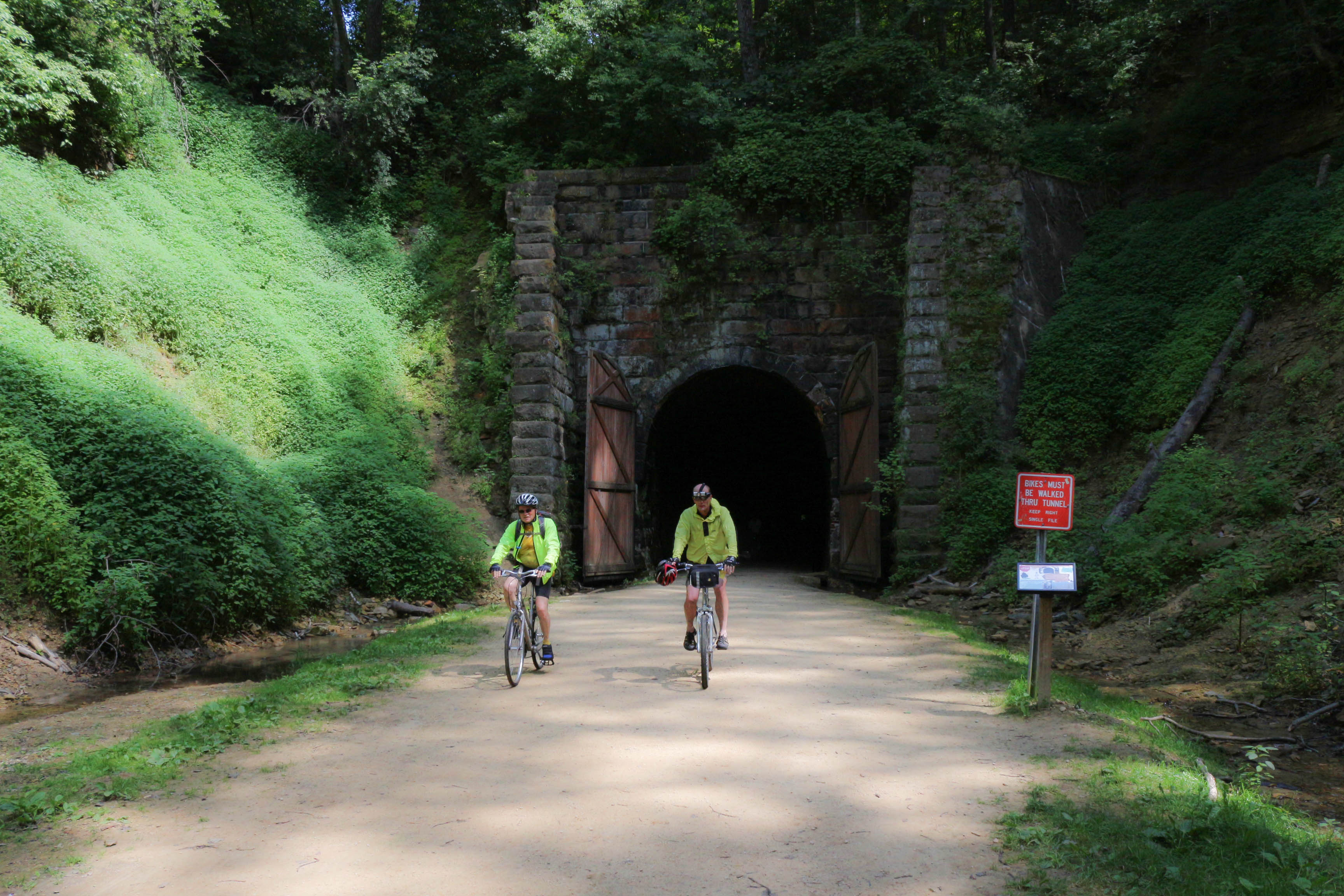 Bikers in Tunnel