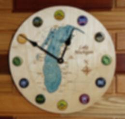 Bottle Cap Lake Clock