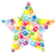 finger paint star