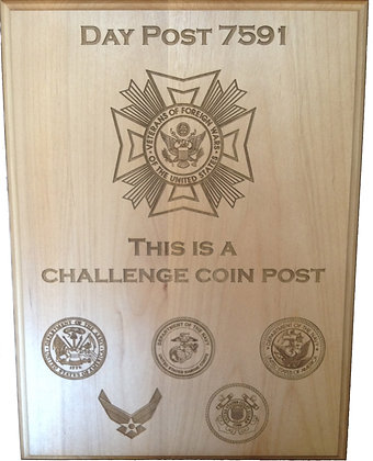 Day Post Military Plaque