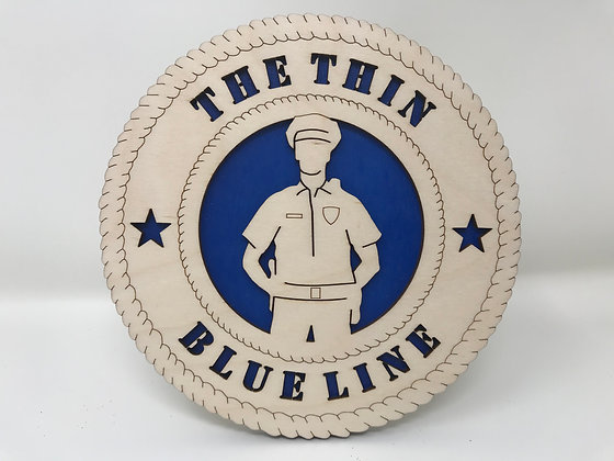 6 inch The Thin Blue Line