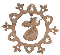 Snowflake Ornament with Angel
