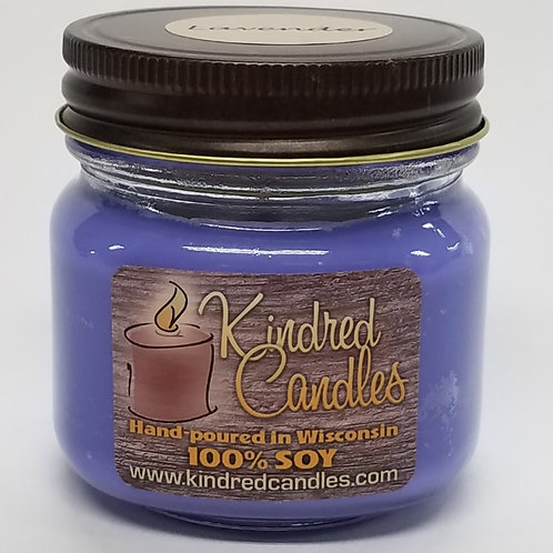 1/2 Pint Soy Jar - Lavender