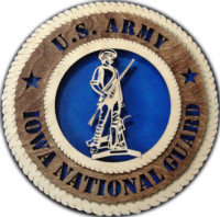 12 inch U. S. Army Iowa National Guard Tribute Wall Plaque