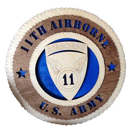 12 inch Wall Tribute - U. S. Army 11th Airborne