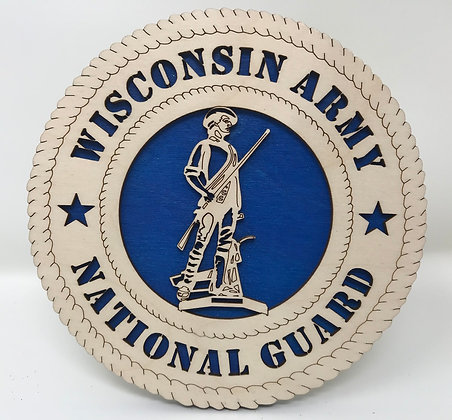 6 inch Wisconsin Army National Guard Plaque