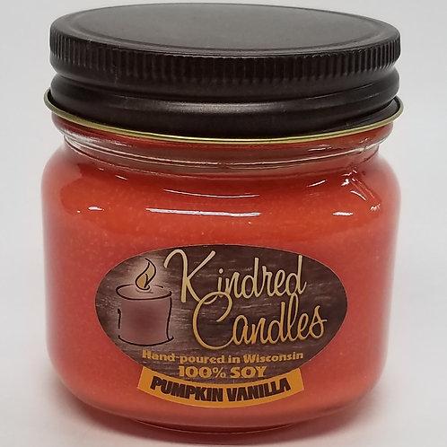 1/2 Pint Soy Jar - Pumpkin Vanilla