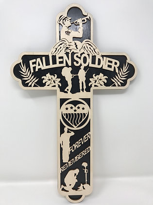 15 inch - Fallen Soldier Cross