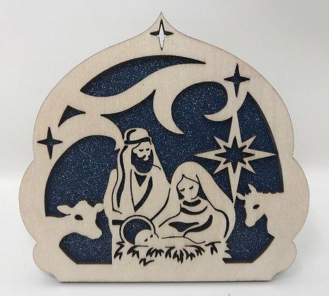 Nativity Scene Ornament with Arch