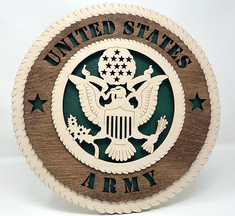 12 inch Wall Tribute - United States Army