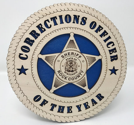 6 inch Corrections Officer of the Year