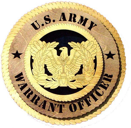 12 inch Wall Tribute - U. S. Army Warrant Officer