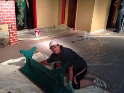 Christmas Belles set construction 6