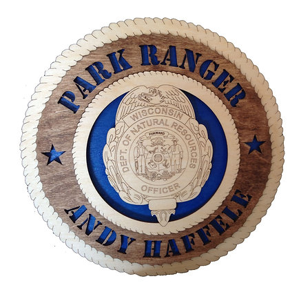 12 inch Wall Tribute - Wisconsin Park Ranger