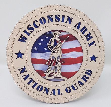 6 inch Desktop Tribute - National Guard Wisconsin