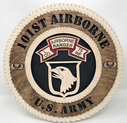 12 inch Wall Tribute - 101st Airborne Ranger L Co 75 Inf