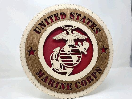 12 inch Wall Tribute - U. S. Marine Corps