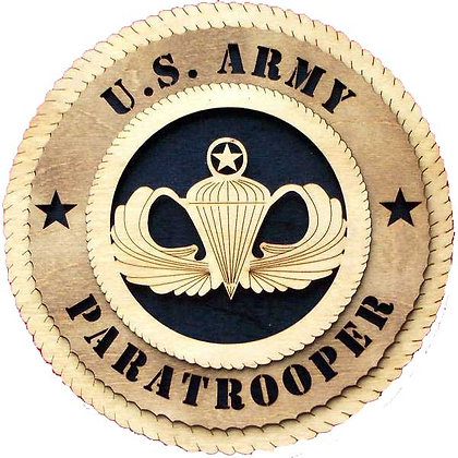12 inch Wall Tribute - U. S. Army Paratrooper