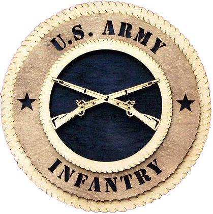 12 inch Wall Tribute - U. S. Army Infantry