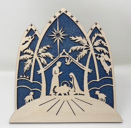 Nativity Scene - 3 Arches