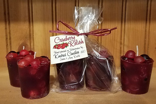 Cranberry Relish Votive - single