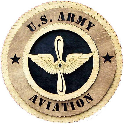 12 inch Wall Tribute - U. S. Army Aviation