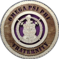 12 inch Omega Psi Phi Fraternity Tribute Plaque