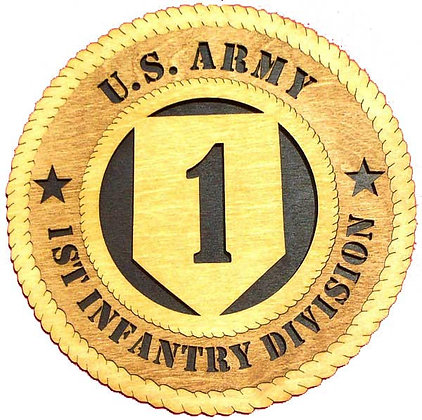 12 inch Wall Tribute - U. S. Army 1st Infantry Division