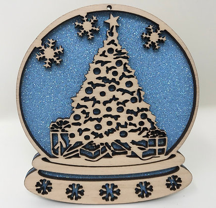 Christmas Tree Snow Globe Ornament