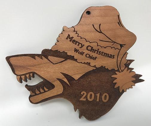 Wolf Pack Cranium Christmas Ornament