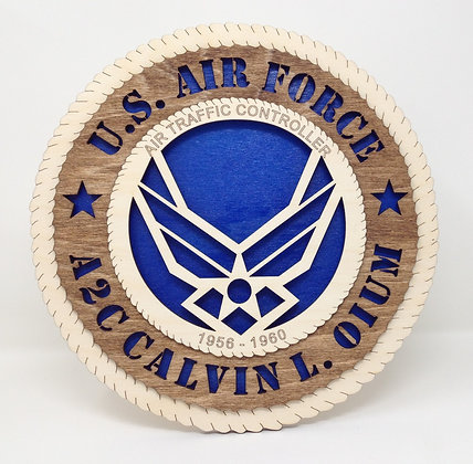12 inch Wall Tribute - United States Air Force Crest Personalized