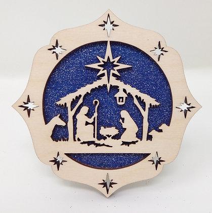 Layered Nativity Ornament