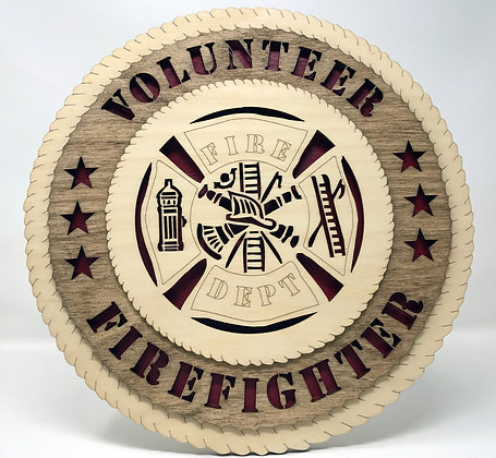 12 inch Wall Tribute - Volunteer Firefighter