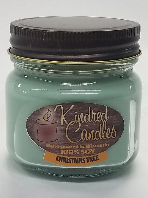 1/2 Pint Soy Jar - Christmas Tree (Holiday)