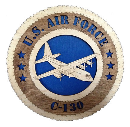 12 inch Wall Tribute - U. S. Air Force C-130