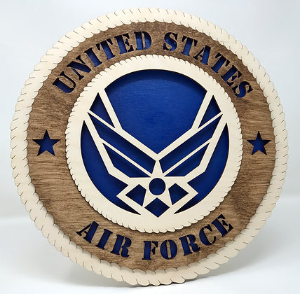 12 inch Wall Tribute - United States Air Force Crest