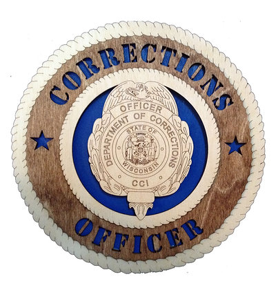 12 inch Wall Tribute - Wisconsin Corrections Officer