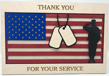 Flag frame Thank you for your service_ed