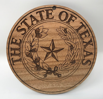 State of Texas Military Christmas Ornament