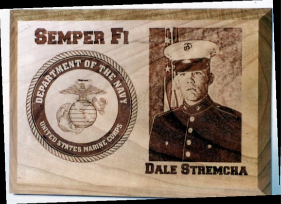 Custom Soldier Plaque with Laser Engraved Photo