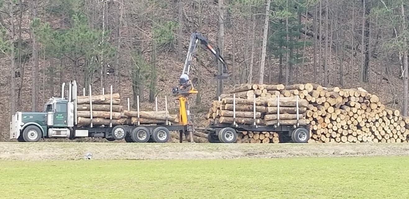 Loading up the trucks