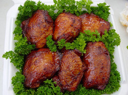 chicken on display
