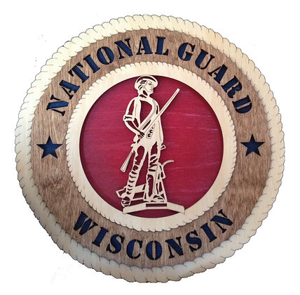 12 inch Wisconsin National Guard Tribute Wall Plaque