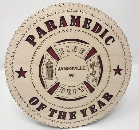 6 inch Desktop Tribute - Paramedic of the Year